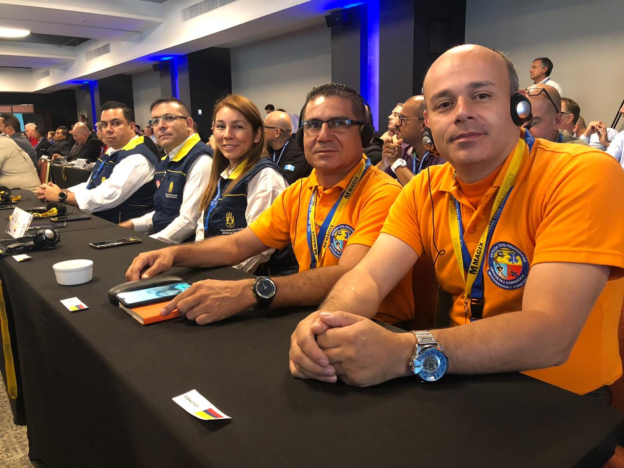 Defensa Civil Colombiana presente en reunión global de líderes USAR en Chile